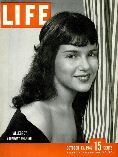 Allegro Broadway Opening 13 Oct 1947 Copyright Life Magazine | Life Magazine BW Photo Covers 1936-1970