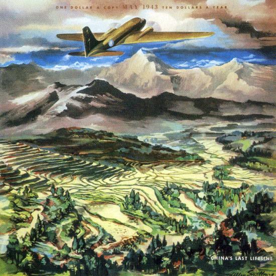 Allen Saalburg Fortune Magazine May 1943 Copyright crop | Best of Vintage Cover Art 1900-1970