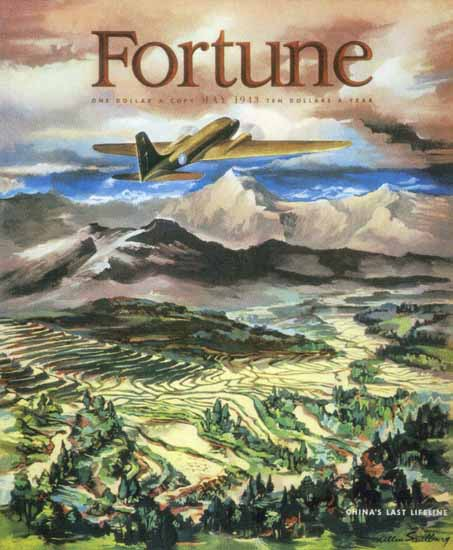 Allen Saalburg Fortune Magazine May 1943 Copyright | Fortune Magazine Graphic Art Covers 1930-1959