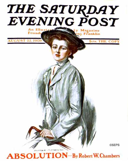Alonzo Myron Kimball Saturday Evening Post Cover Art 1908_08_22 | The Saturday Evening Post Graphic Art Covers 1892-1930