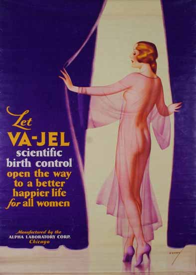 Alpha Laboratory VA-JEL Birth Control George Petty Sex Appeal | Sex Appeal Vintage Ads and Covers 1891-1970