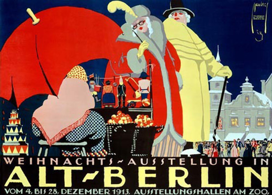Alt Berlin Weihnachst-Ausstellung Ernst Deutsch   Vintage Ad and Cover Art 1891-1970