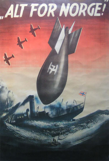 Alt For Norge | Vintage War Propaganda Posters 1891-1970