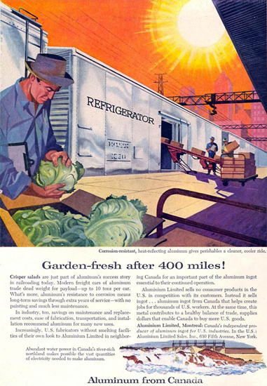 Aluminum From Canada Garden-Fresh 1958 | Vintage Ad and Cover Art 1891-1970
