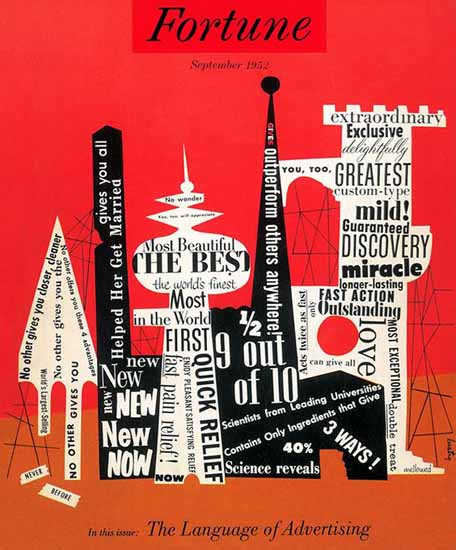 Alvin Lustig Fortune Magazine September 1952 Copyright | Fortune Magazine Graphic Art Covers 1930-1959