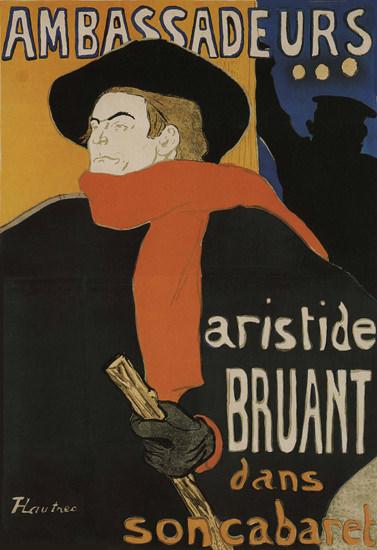 Ambassadeur Aristide Bruant Dans Son Cabaret | Vintage Ad and Cover Art 1891-1970