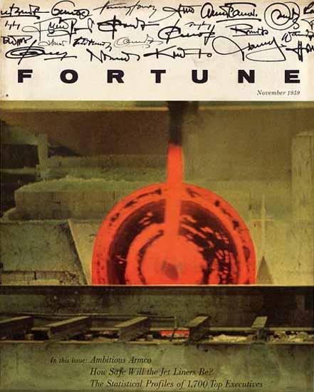 Ambitious Armco Fortune Magazine November 1959 Copyright | Fortune Magazine Graphic Art Covers 1930-1959