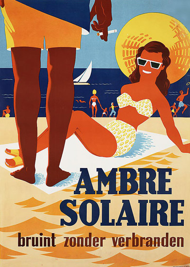 Ambre Solaire Bruint Zonder Verbranden | Sex Appeal Vintage Ads and Covers 1891-1970