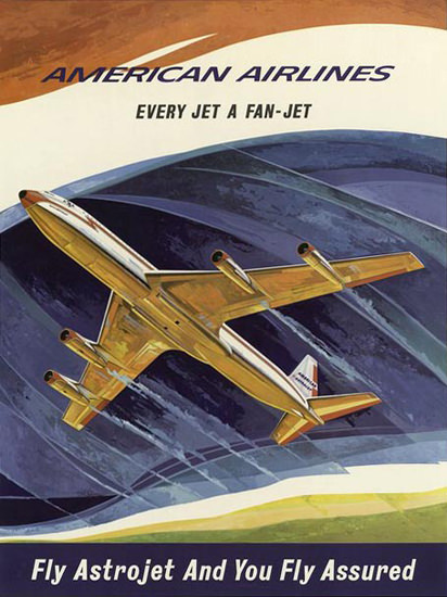 American Airlines Astrojet | Vintage Travel Posters 1891-1970