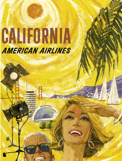 American Airlines California 1960 | Vintage Travel Posters 1891-1970