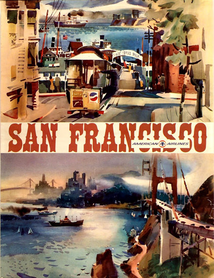 American Airlines San Francisco 1970   Vintage Travel Posters 1891-1970