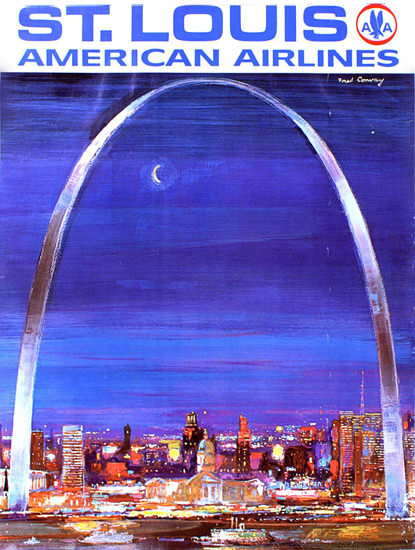 American Airlines St Louis 1960 | Vintage Travel Posters 1891-1970
