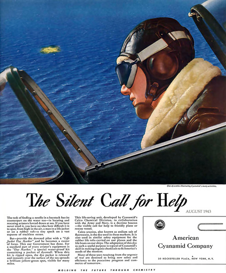 American Cyanamyd Company Silent Call For Help | Vintage War Propaganda Posters 1891-1970