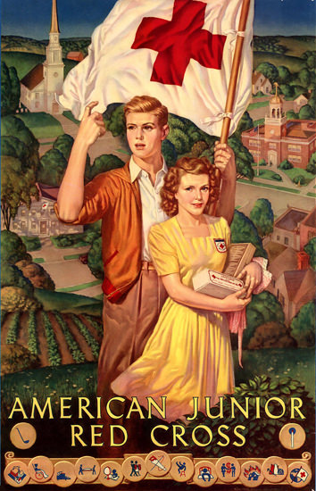American Junior Red Cross | Vintage War Propaganda Posters 1891-1970