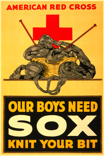 American Red Cross Our Boys Need Sox | Vintage War Propaganda Posters 1891-1970