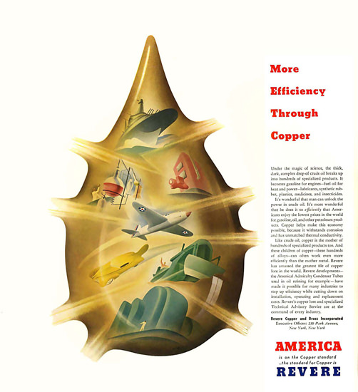 American Revere Copper Standard 1940 | Vintage Ad and Cover Art 1891-1970