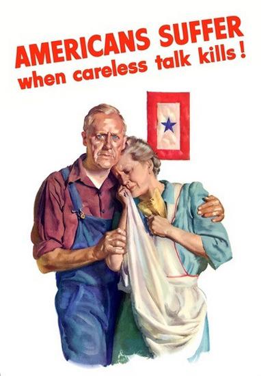 Americans Suffer When Careless Talk Kills Kids | Vintage War Propaganda Posters 1891-1970