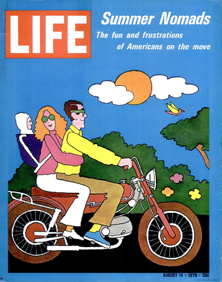 Americans on the Move Nomads 14 Aug 1970 Copyright Life Magazine | Life Magazine Color Photo Covers 1937-1970