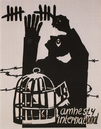 Amnesty International Austria Peace Dove Cage | Vintage War Propaganda Posters 1891-1970