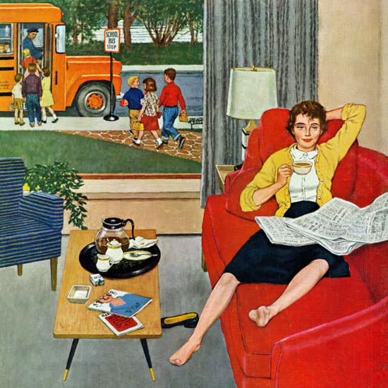 Amos Sewell Saturday Evening Post Coffee 1959_09_12 Copyright crop | Best of Vintage Cover Art 1900-1970