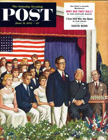Amos Sewell Saturday Evening Post High School Address 1952_06_14 | The Saturday Evening Post Graphic Art Covers 1931-1969