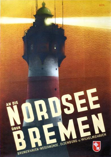 An Die Nordsee UeberBremen 1938 | Vintage Travel Posters 1891-1970