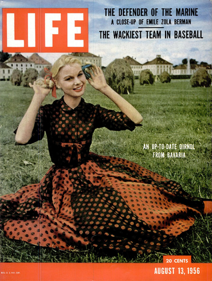 An Up-To-Date Dirndl from Bavaria 13 Aug 1956 Copyright Life Magazine | Life Magazine Color Photo Covers 1937-1970