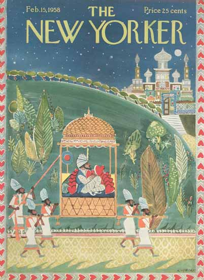 Anatol Kovarsky The New Yorker 1958_02_15 Copyright | The New Yorker Graphic Art Covers 1946-1970