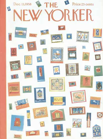 Anatol Kovarsky The New Yorker 1958_12_13 Copyright | The New Yorker Graphic Art Covers 1946-1970