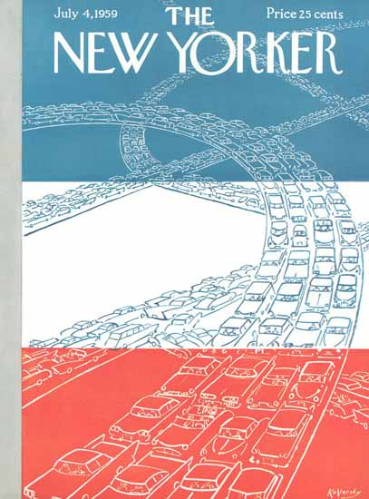 Anatol Kovarsky The New Yorker 1959_07_04 Copyright   The New Yorker Graphic Art Covers 1946-1970