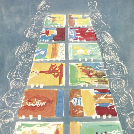 Anatol Kovarsky The New Yorker 1960_10_08 Copyright crop   Best of Vintage Cover Art 1900-1970