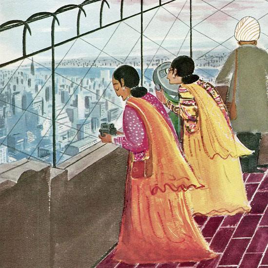 Anatol Kovarsky The New Yorker 1961_07_22 Copyright crop | Best of Vintage Cover Art 1900-1970