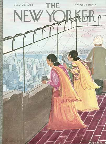 Anatol Kovarsky The New Yorker 1961_07_22 Copyright | The New Yorker Graphic Art Covers 1946-1970
