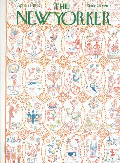 Anatol Kovarsky The New Yorker 1962_04_21 Copyright | The New Yorker Graphic Art Covers 1946-1970