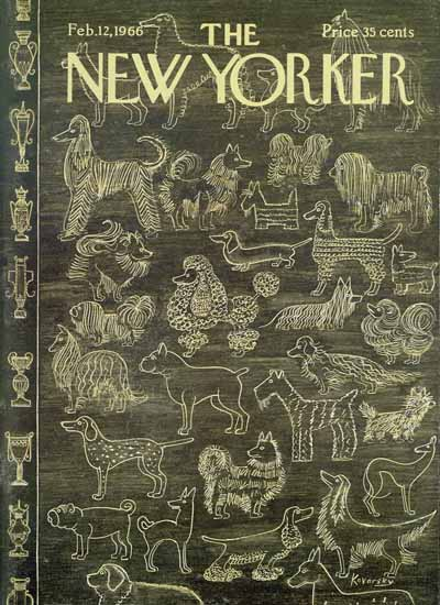 Anatol Kovarsky The New Yorker 1966_02_12 Copyright | The New Yorker Graphic Art Covers 1946-1970