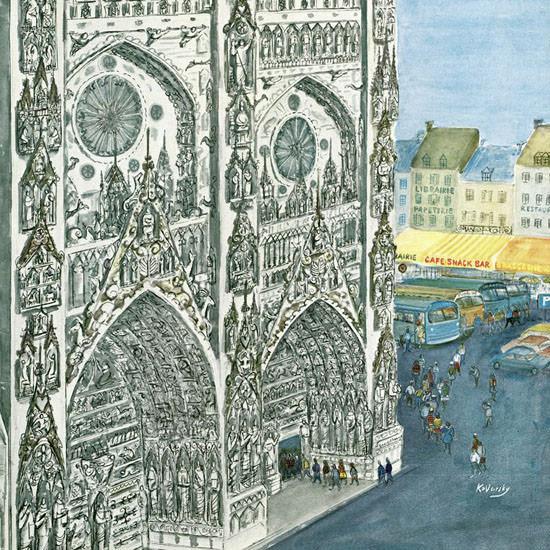 Anatol Kovarsky The New Yorker 1966_08_13 Copyright crop | Best of Vintage Cover Art 1900-1970