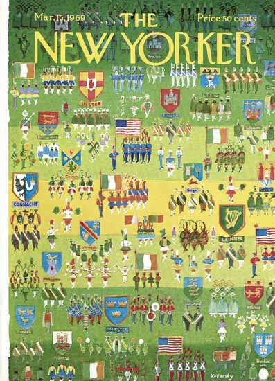 Anatol Kovarsky The New Yorker 1969_03_15 Copyright | The New Yorker Graphic Art Covers 1946-1970