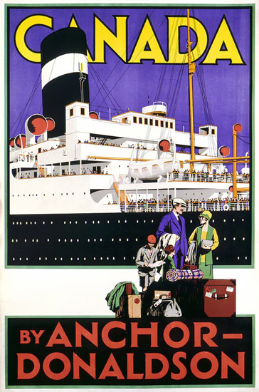 Anchor-Donaldson Canada 1928 | Vintage Travel Posters 1891-1970