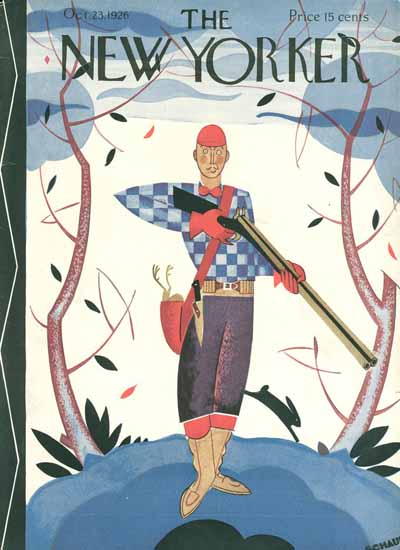 Andre De Schaub The New Yorker 1926_10_23 Copyright | The New Yorker Graphic Art Covers 1925-1945