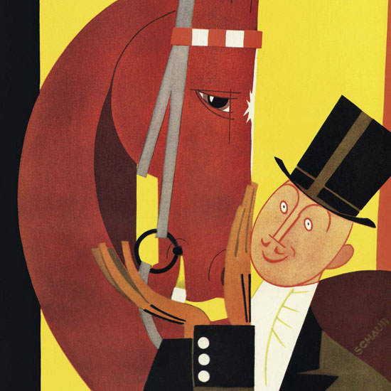 Andre De Schaub The New Yorker 1926_11_20 Copyright crop | Best of 1920s Ad and Cover Art