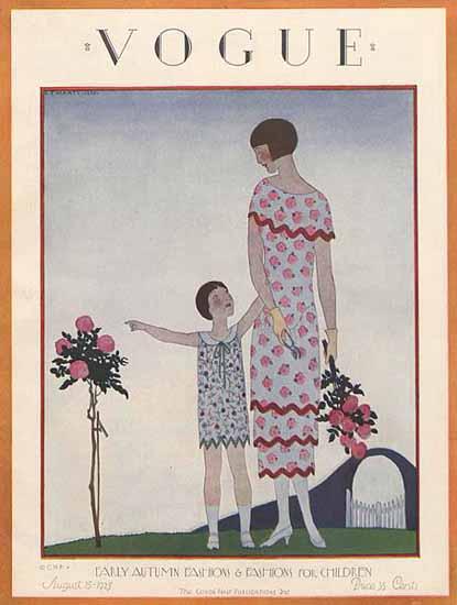 Andre E Marty Vogue Cover 1925-08-15 Copyright   Vogue Magazine Graphic Art Covers 1902-1958