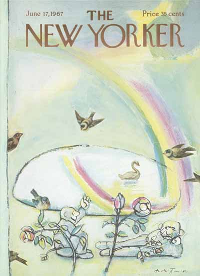 Andre Francois The New Yorker 1967_06_17 Copyright   The New Yorker Graphic Art Covers 1946-1970