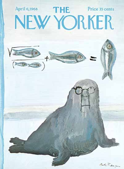 Andre Francois The New Yorker 1968_04_06 Copyright | The New Yorker Graphic Art Covers 1946-1970