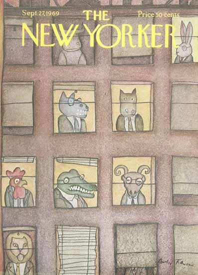 Andre Francois The New Yorker 1969_09_27 Copyright | The New Yorker Graphic Art Covers 1946-1970