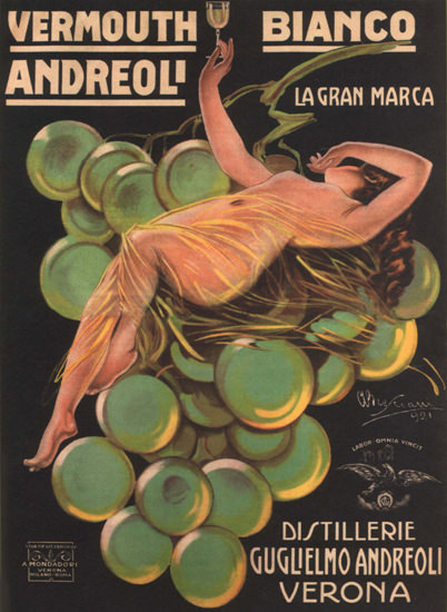 Andreoli Vermouth Bianco Verona Italy Italia | Sex Appeal Vintage Ads and Covers 1891-1970