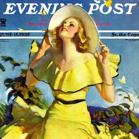 Andrew Loomis Saturday Evening Post Yellow 1935_06_15 Copyright crop | Best of 1930s Ad and Cover Art