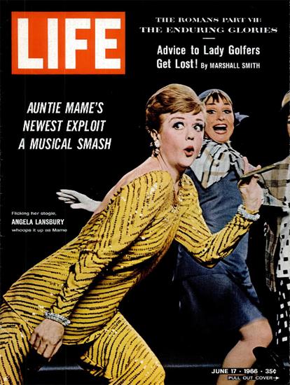 Angela Lansbury as Auntie Mame 17 Jun 1966 Copyright Life Magazine | Life Magazine Color Photo Covers 1937-1970