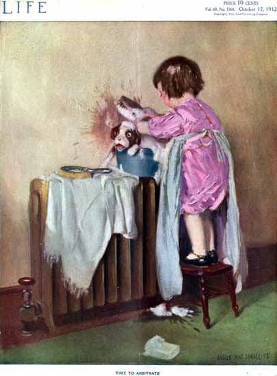 Angus MacDonall Life Humor Magazine 1912-10-17 Copyright   Life Magazine Graphic Art Covers 1891-1936