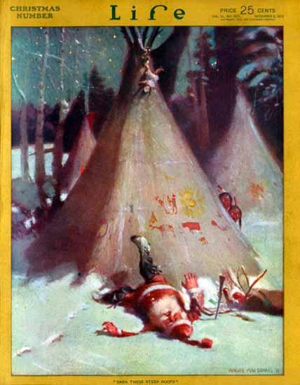 Angus MacDonall Life Humor Magazine 1912-12-05 Copyright | Life Magazine Graphic Art Covers 1891-1936