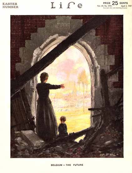Angus MacDonall Life Humor Magazine 1917-04-05 Copyright | Life Magazine Graphic Art Covers 1891-1936
